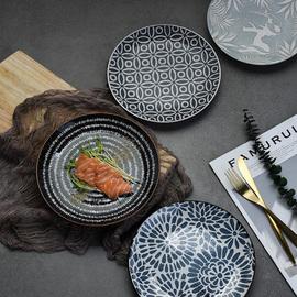 陶瓷家用菜盘子创意酒店西餐厅具牛排个性简约平盘水果沙拉网红盘