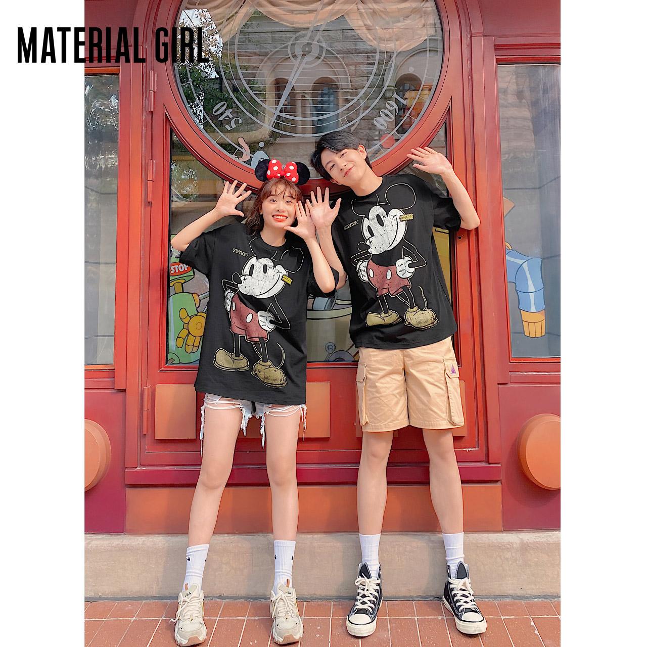 夏新款纯棉短袖 2020 恤 t 迪士尼米奇联名 Girl Material 薇娅推荐