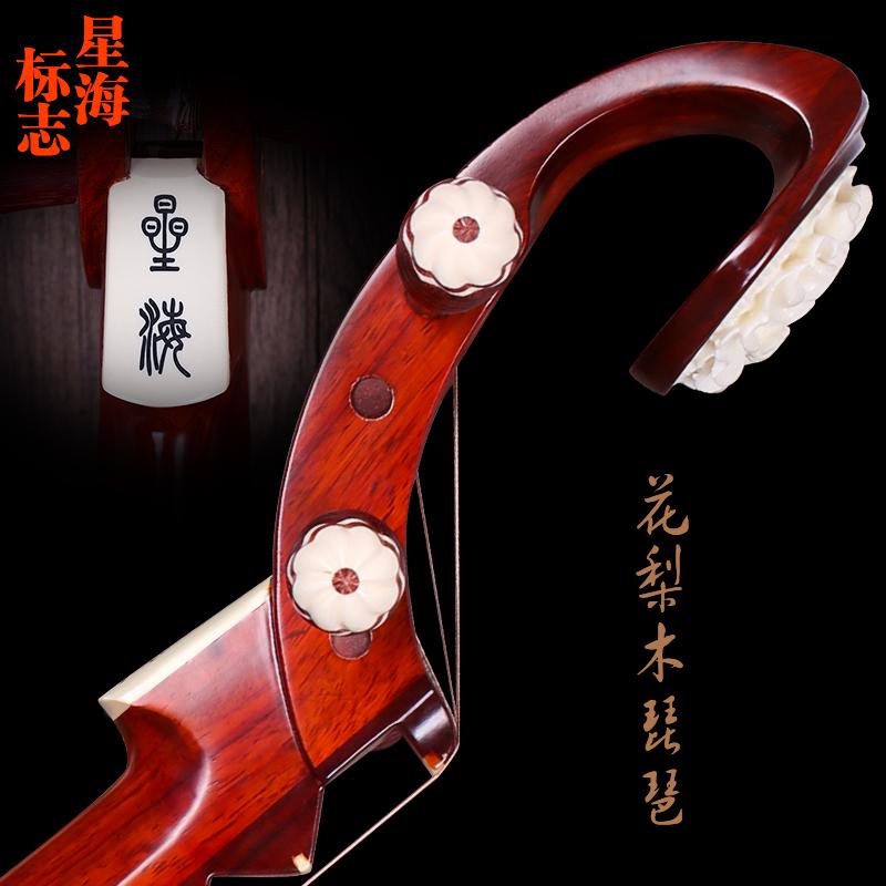 花梨红木抛光琵琶专业演奏考级琵琶送配件 2 8912 北京星海琵琶乐器