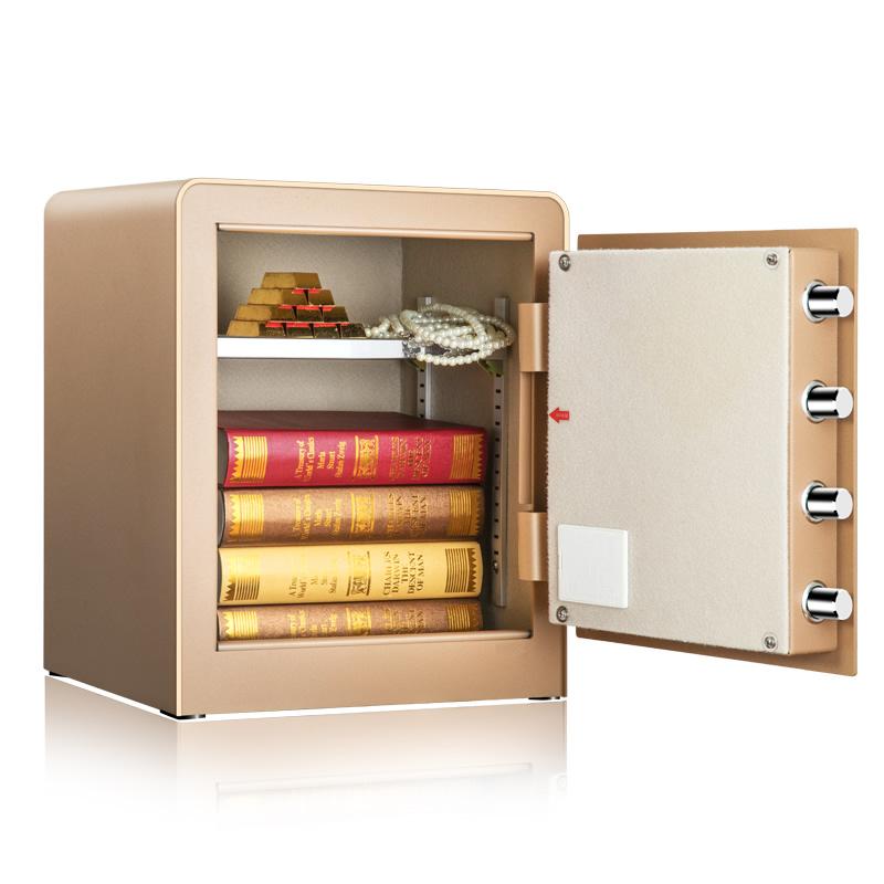 得力4078电子密码保险柜家用小型保险箱办公全钢智能防盗保管箱