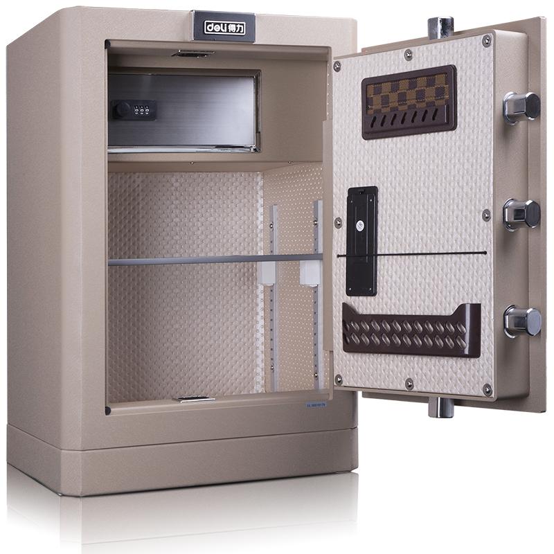 得力4042 电子密码床头柜办公保险柜家用入柜式保险盒防盗保险箱