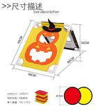 Kindergarten children throwing sandbags game Halloween family board game throwing throwing sandbags on both sides can play