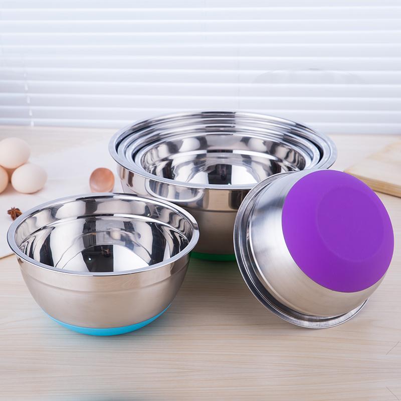 [淘寶網] 打蛋盆 廚房加厚盆加深盆304不鏽鋼硅膠底防飛濺打蛋盆打蛋盆烘焙