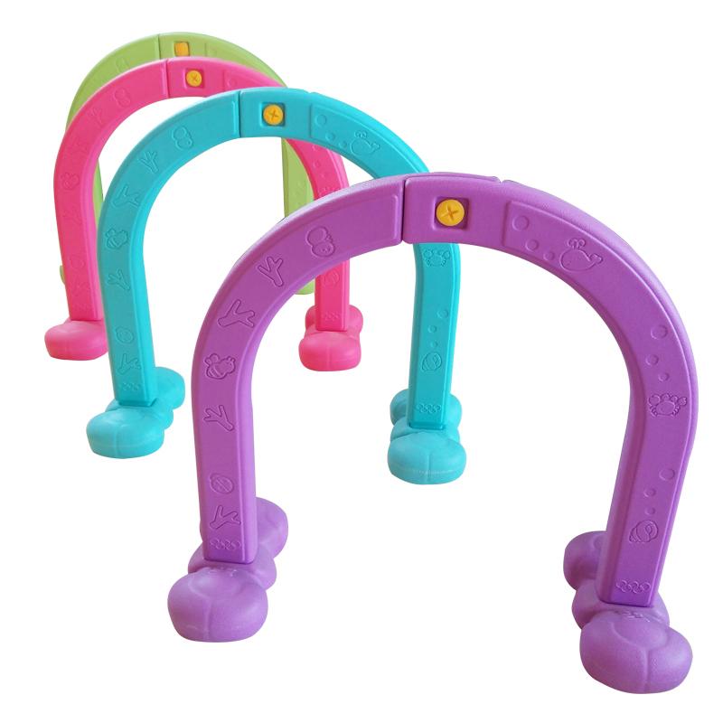 新款幼儿园游戏拱门钻洞 双面立体动物塑料钻圈 儿童室内外玩具