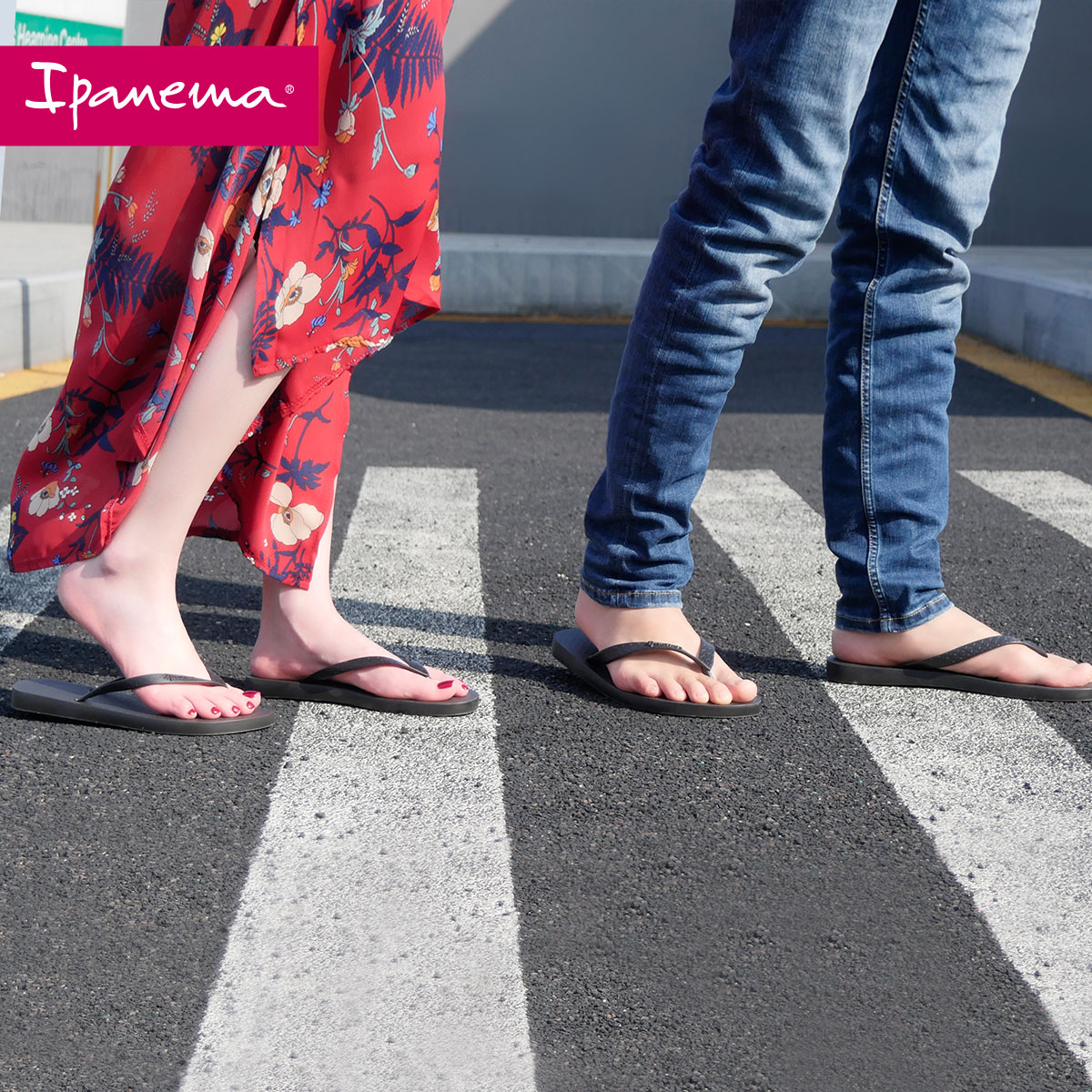 Ipanema人字拖男潮外穿网红女拖鞋情侣平底沙滩鞋ins男鞋外穿度假