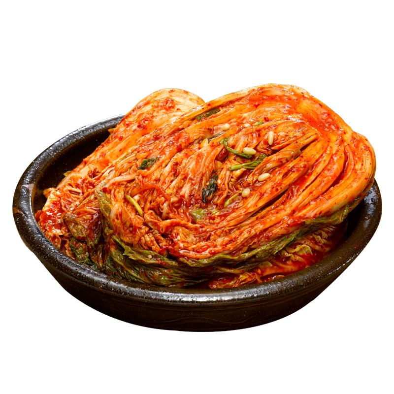 三口一品 韩国正宗韩式泡菜辣白菜切件 朝鲜风味下饭菜1050g包邮