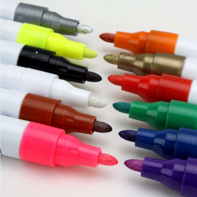 包邮嘉宾签名笔金色签字笔油漆笔粗DIY彩色补漆马克记号婚礼签到