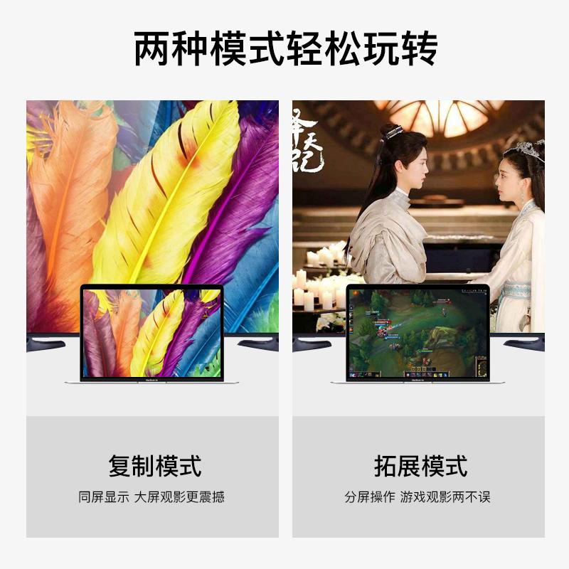 mini dp转hdmi苹果电脑转换器vga投影仪雷电接口macbook pro/air微软surface pro接高清电视mac笔记本转接头