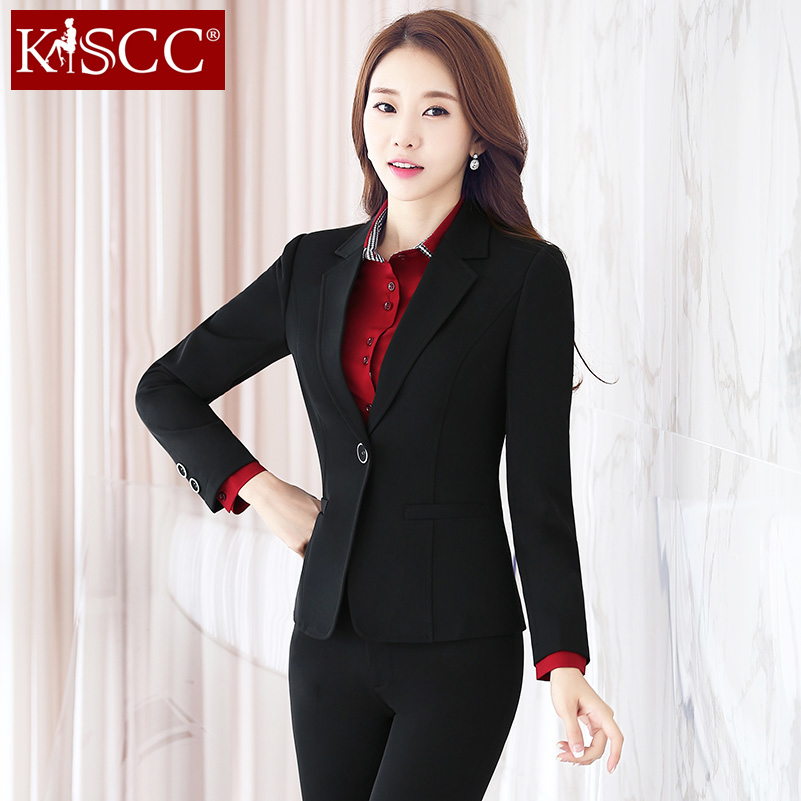 ca3a6a76713 Buy 2016 korean version of slim fashion business professional women wear  suits autumn long sleeve dress pants suit overalls taoku in Cheap Price on  ...