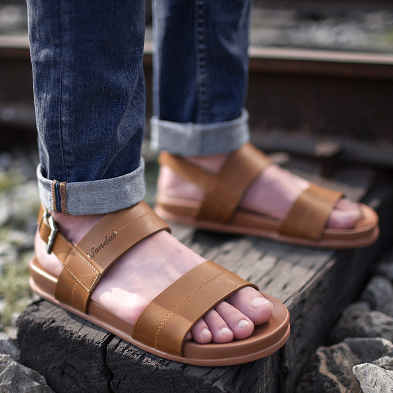712393ca9ba7 Buy 2016 new men  39 s leather sandals men sandals summer sandals leather  sandals men slip sandals casual shoes in Cheap Price on m.alibaba.com