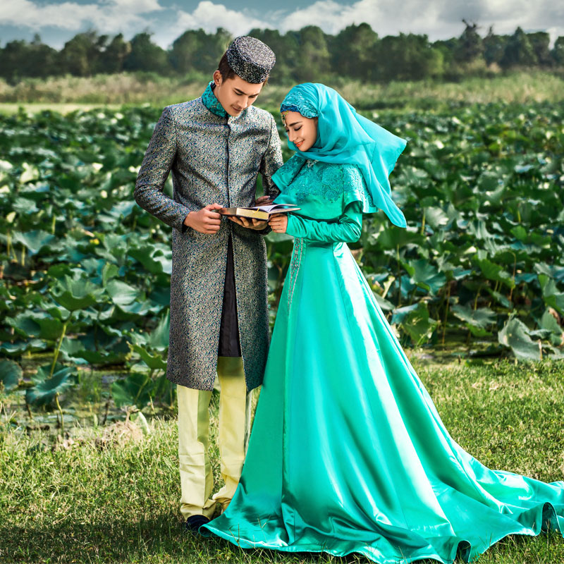Ic Wedding Dress With Hijab - Wedding Dresses