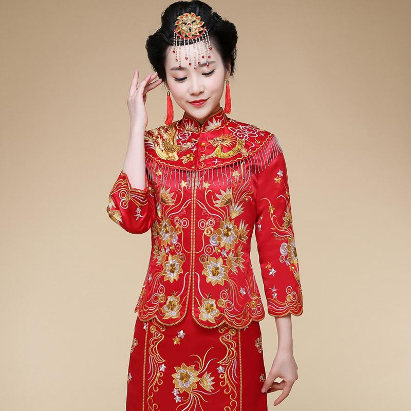Buy Bridal gown dragon xiu chinese dress bridal gown wedding dress ...
