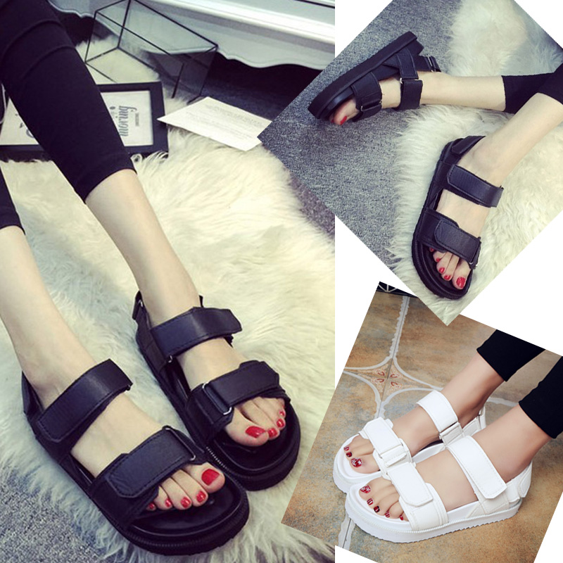 87610393a656 Buy 2016 new wild harajuku summer beach sandals women shoes korean student  flat sandals women shoes thick crust muffin in Cheap Price on Alibaba.com