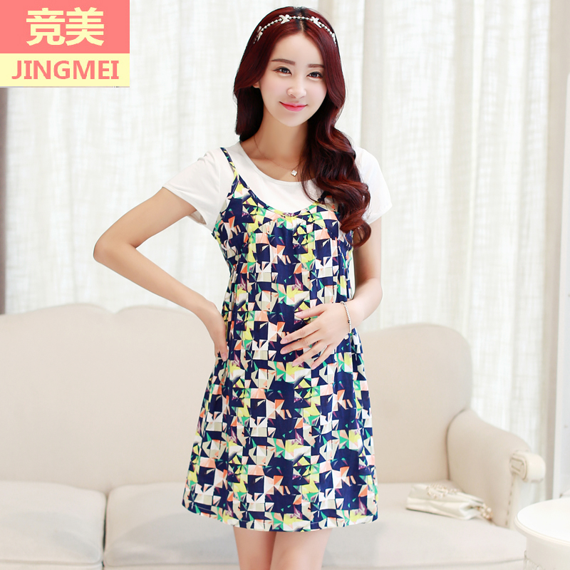 f5f4431a8fb87 Buy 2016 piece cotton summer dresses for pregnant women pregnant ...
