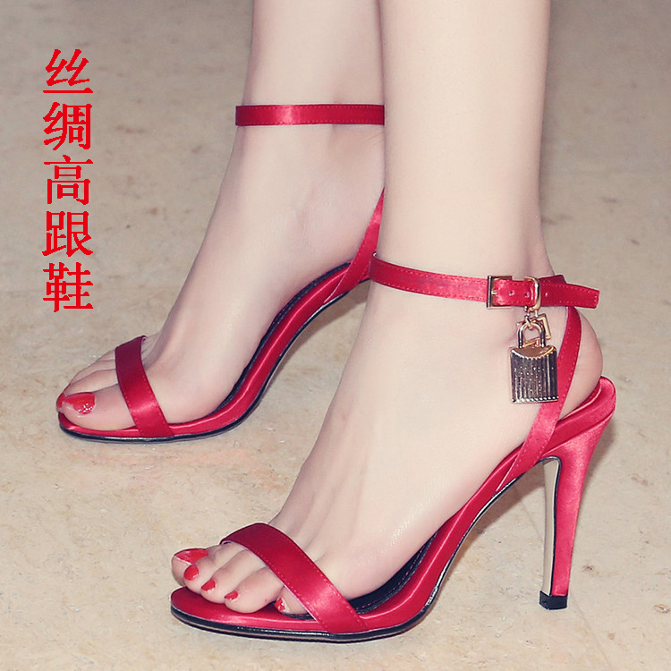 24b761c76 Buy 2016 summer new ladies shoes women summer fashion models with fine  leather shoes with high heels red wedding shoes wedge sandals tide in Cheap  Price on ...