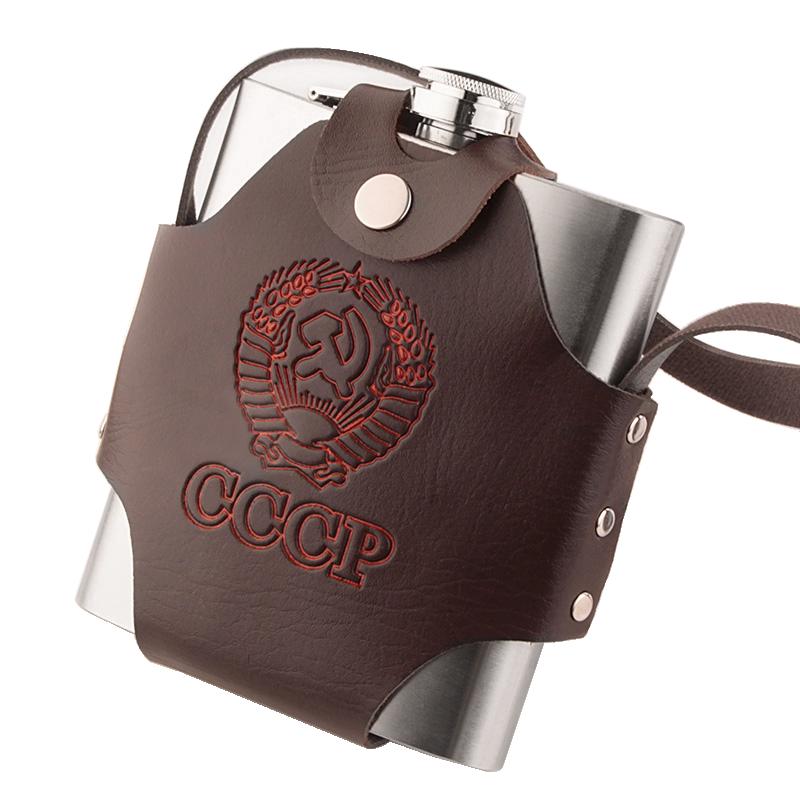 加厚不锈钢扁酒壶 俄罗斯小酒壶 随身户外便携酒瓶 扁水壶