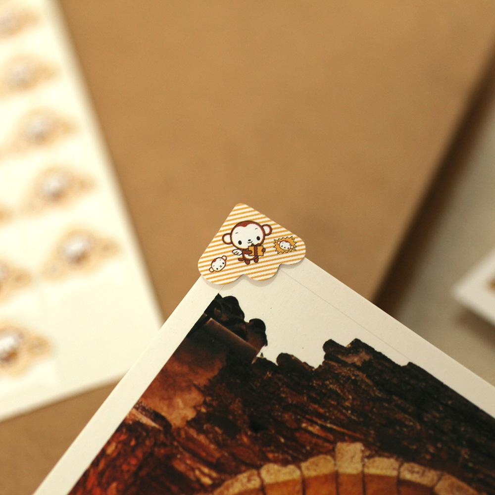 纸质印花角贴 DIY相册工具粘贴材料-5张贴角拍立得相片固定贴角