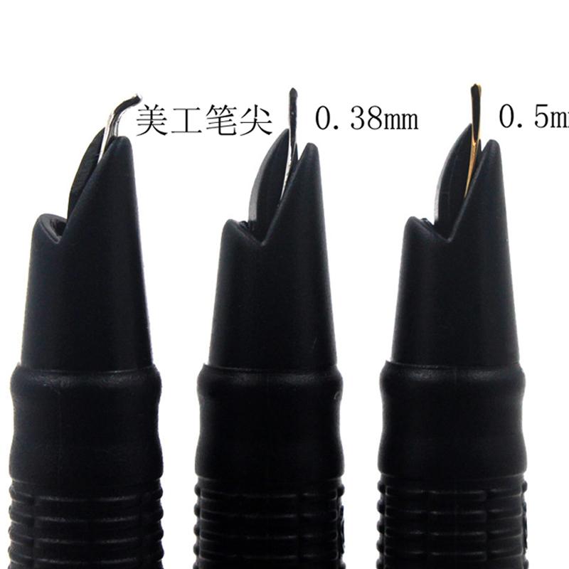 英雄266老款式书法美工弯头钢笔标准暗尖经典銥金钢笔特细0.38mm