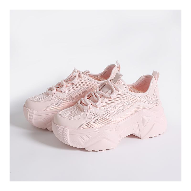 可盐可甜老爹鞋  色可选网面厚底百搭增高耐折抗造搭增女鞋 3 K 姐