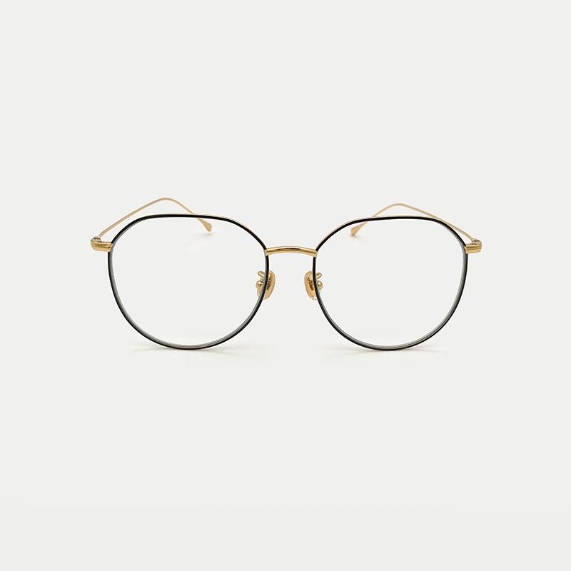 不规则多边形眼镜架护目防辐射复古眼镜女 姐  K 纯钛防蓝光眼镜
