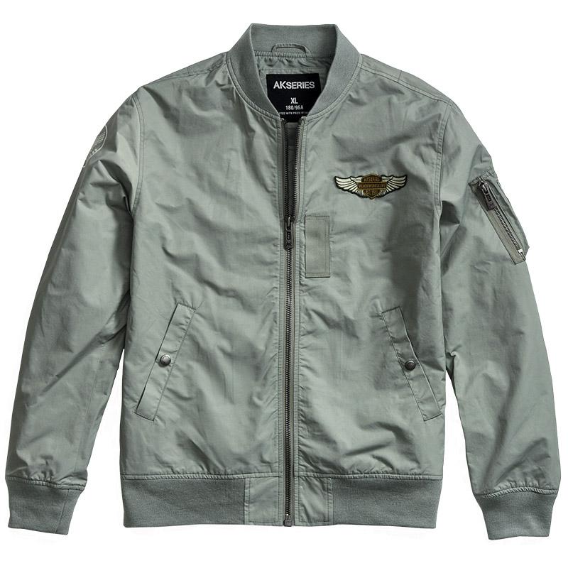 AK男装复古空军MA-1飞行员夹克 刺绣情侣棒球服 欧美潮牌男外套