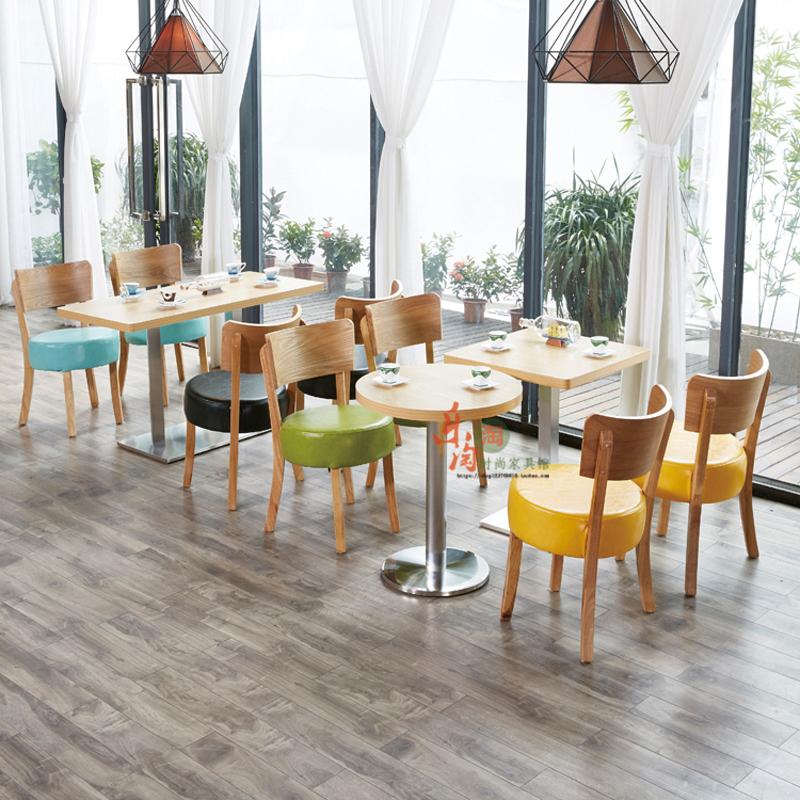 定制甜品店桌椅组合咖啡厅餐饮桌椅小吃店快餐店餐座椅奶茶店桌椅