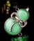 汽车挂件猫眼石苹果车载饰品镶钻高档保平安符招财车内挂饰用品
