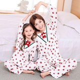 Sheng Kai Anqi girls pajamas princess nightgown modal thin section paternity suit mother and baby child home service