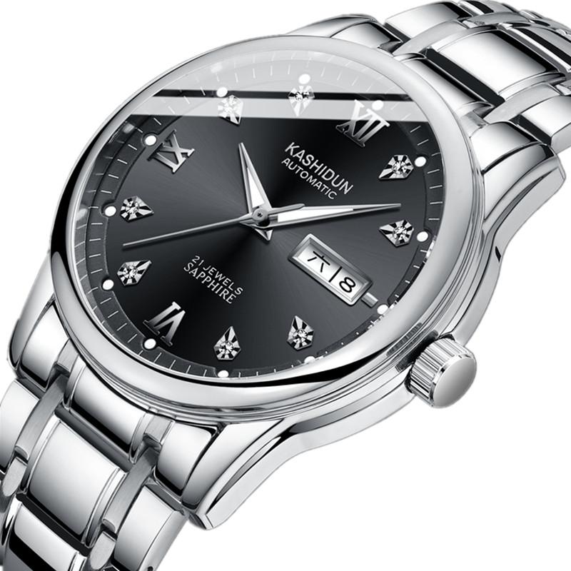 2019 新款男士手表全自动机械表进口机芯镂空时尚城光防水 卡诗顿