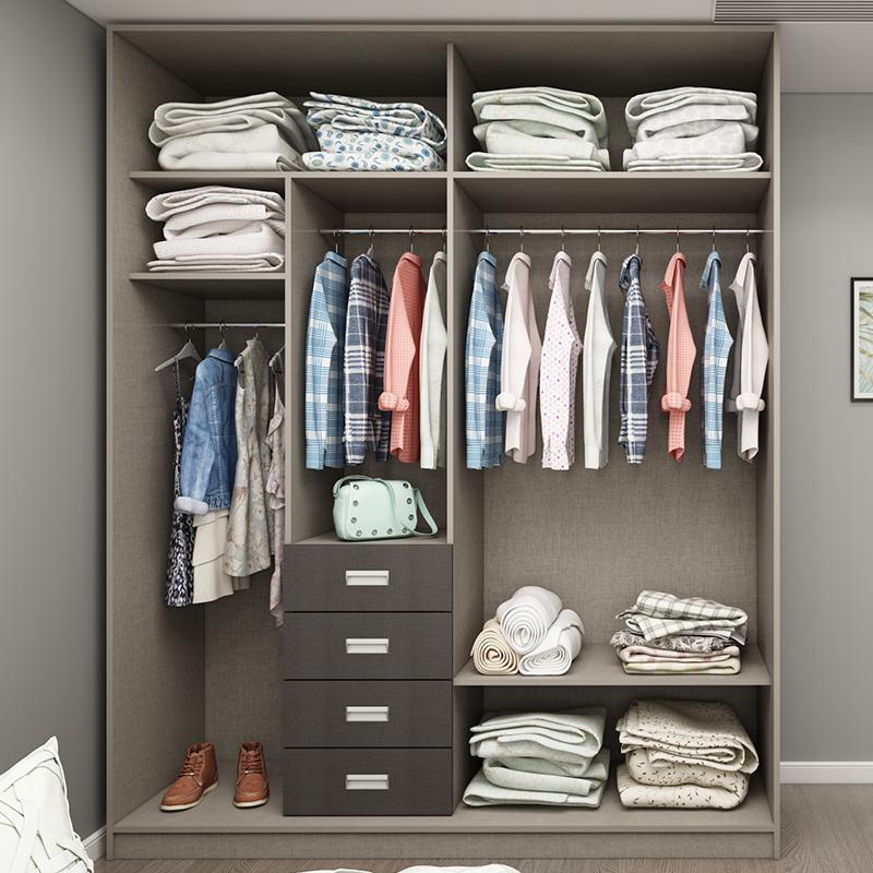整体衣柜推拉移门开门衣柜定制经济型现代简约大特价拆装实木衣柜