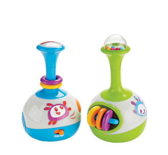 费雪三合一小滚筒婴幼儿健身器宝宝学爬玩具儿童音乐玩具幼儿早教