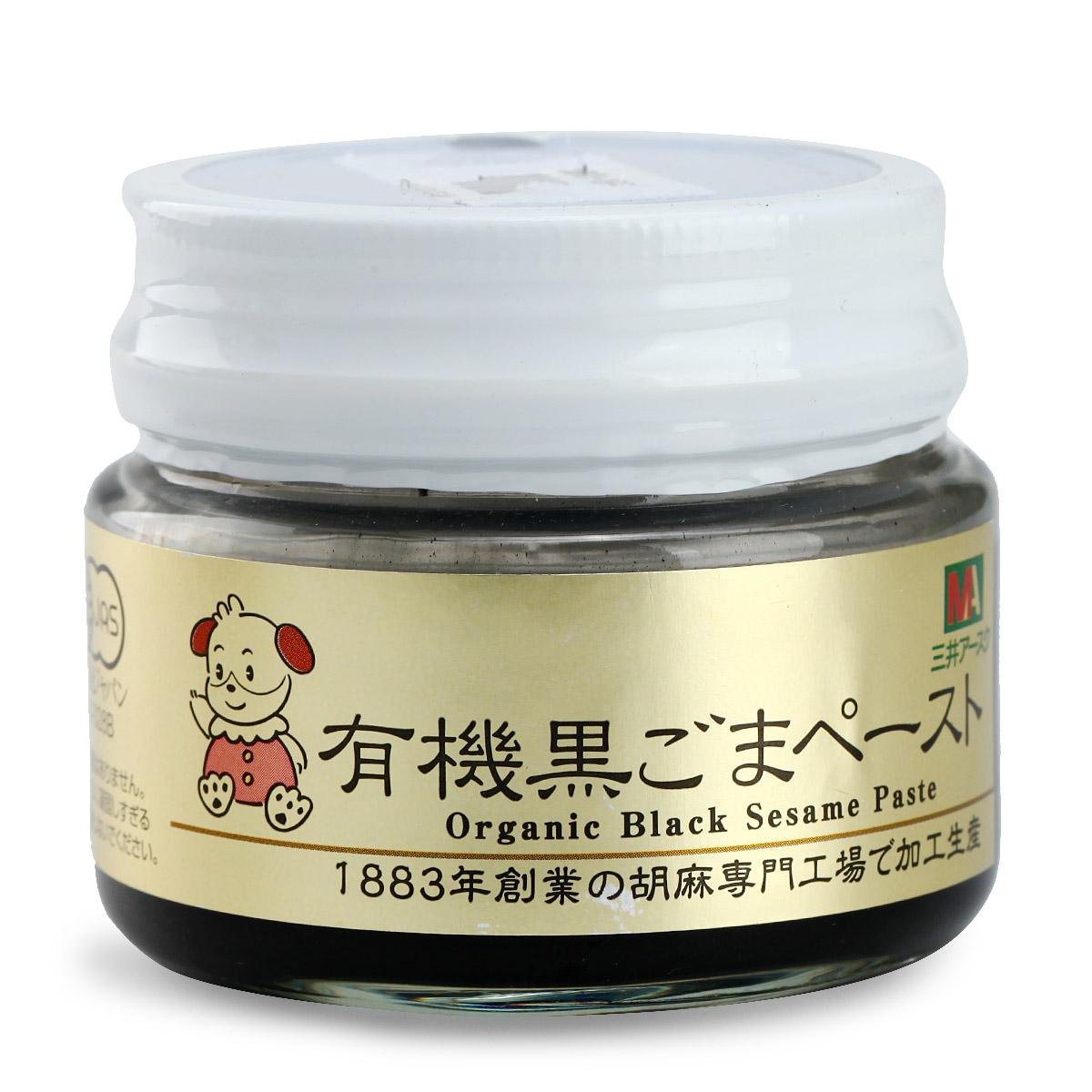 三井宝宝日本含铁补钙黑芝麻酱80g婴幼儿宝宝辅食调味品拌饭料品