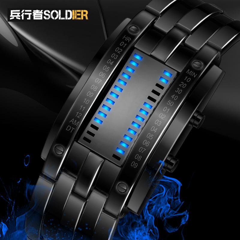 戶外手錶 新品男女款腕錶軍表 電子錶夜光防水戶外LED電深度防水
