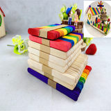Ice cream stick ice stick DIY hand-made original model small house material round wood strip film new products