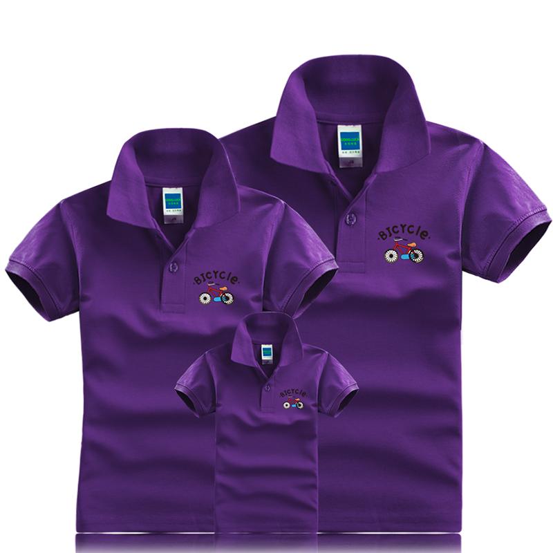 2019新款亲子装夏装一家三口全家家庭装母女装韩版POLO衫短袖T恤