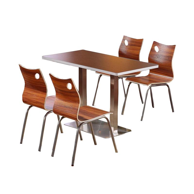 肯德基餐桌椅小吃店饭店奶茶食堂面馆简约快餐桌椅餐厅组合包邮