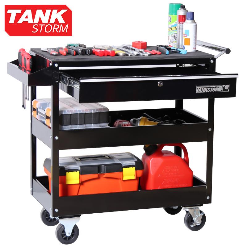 TANKSTORM汽修维修工具车三层推车多功能维修零件车工具架子层
