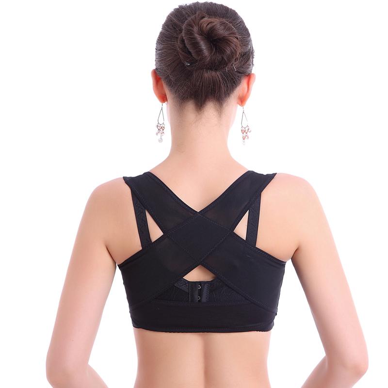 薄功能胸托收副乳聚拢托胸驼背矫正直背防胸部防下垂束胸内衣塑拉