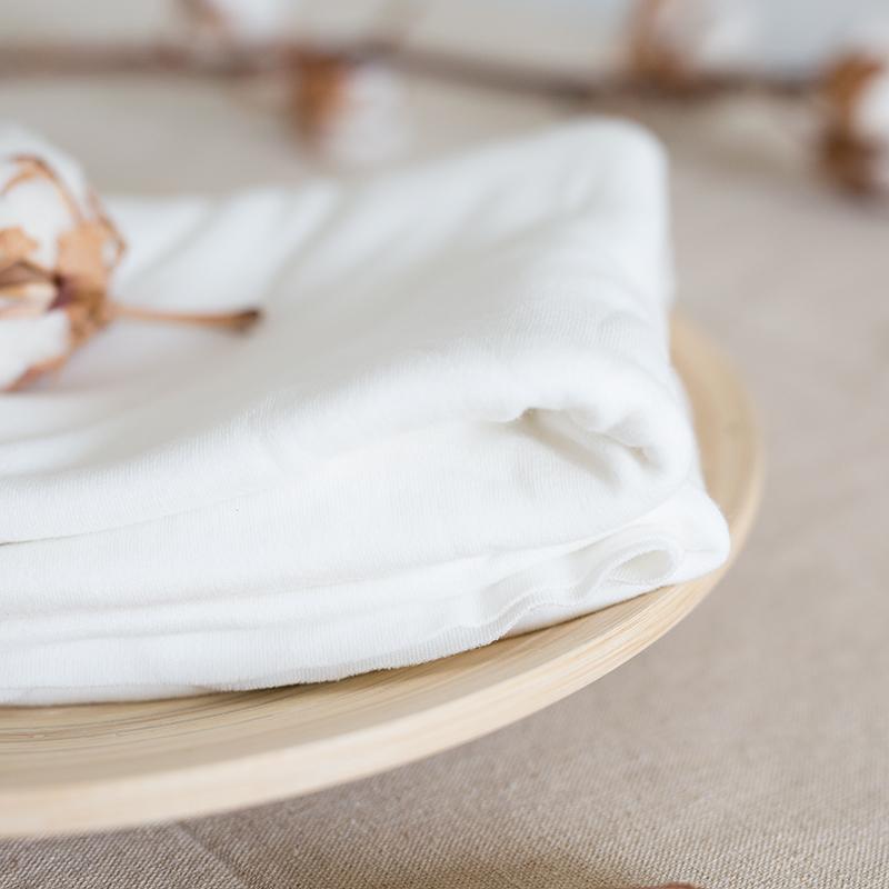 天然全棉針織布料純棉棉毛棉布原白色環保尿布布匹布料