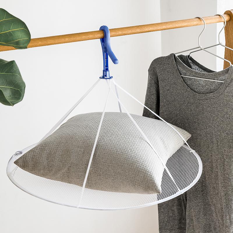 日本衣物晾晒网家用可折叠晾衣网兜羊毛衫晾衣网毛衣防变形晾衣篮