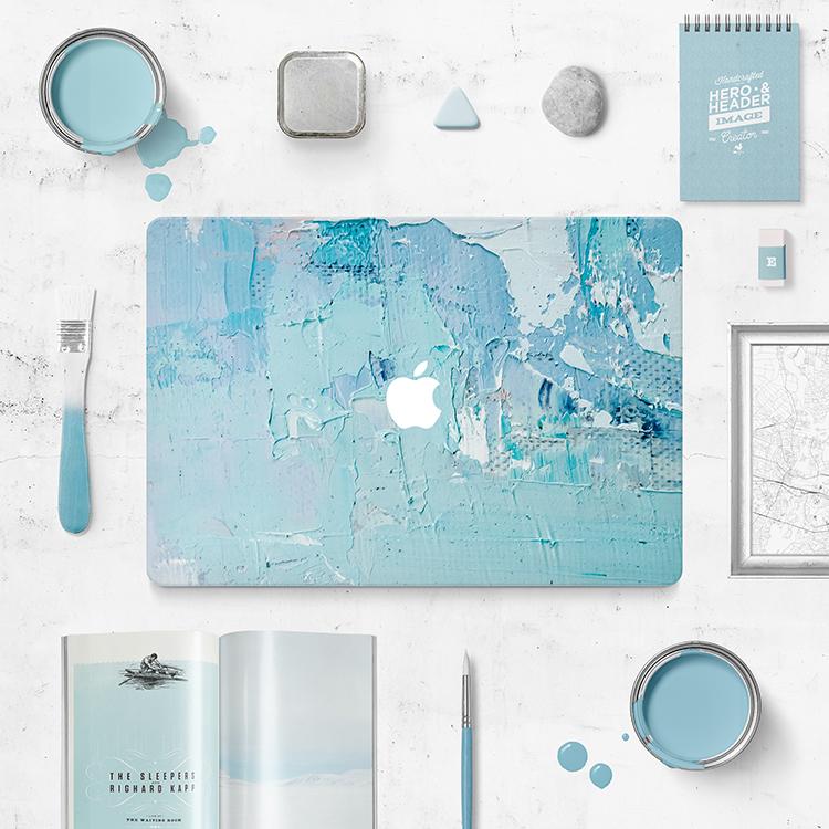 無限造物油畫MacBook Air/Pro蘋果膝上型電腦貼膜文藝創意外殼貼