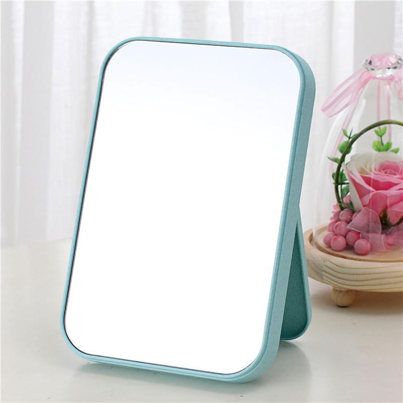 高清单面化妆镜子台式梳妆 镜子美容公主镜折叠方镜子桌面随身镜
