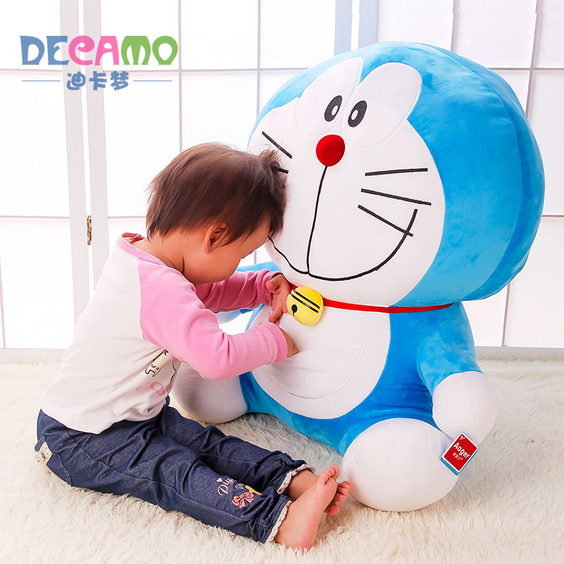 正版哆啦a梦公仔叮当猫毛绒玩具机器猫娃娃玩偶生日礼物送女生友