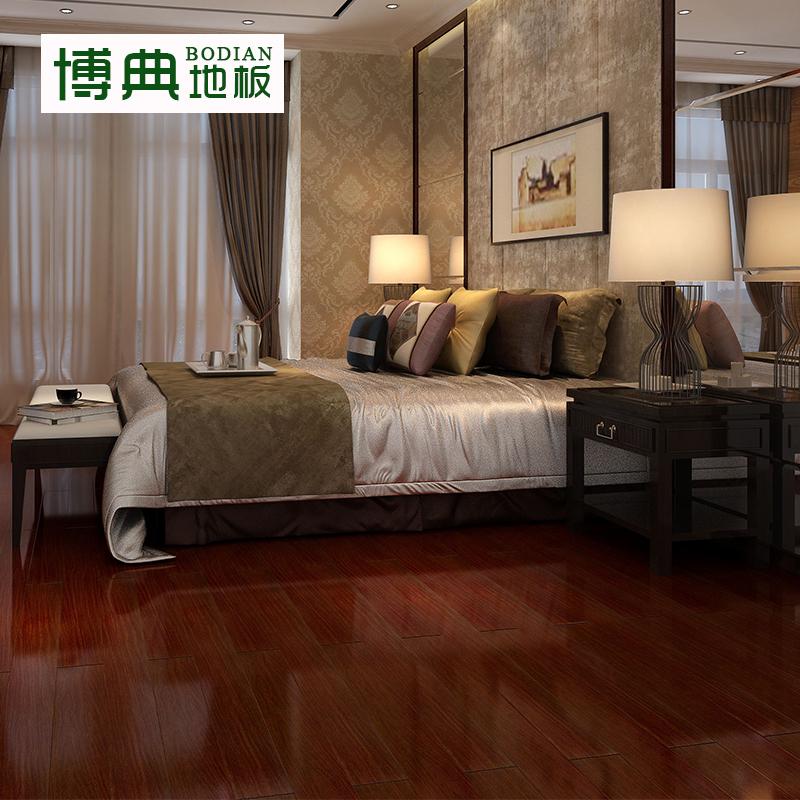 博典二翅豆全实木木地板客厅卧室老油漆工艺厂家直销D龙凤檀