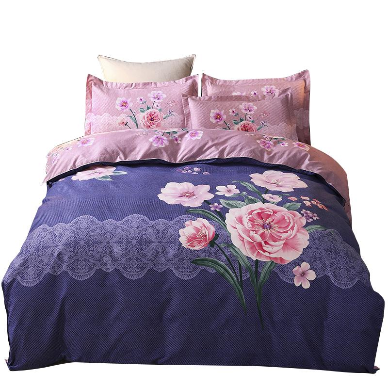 特价四件套全棉纯棉简约18米20m床单被套秋冬季双人床上四件套