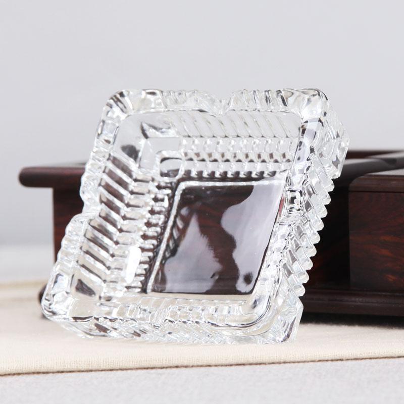 红酸枝烟灰缸实木质中式装饰烟缸时尚复古创意个性烟灰缸玻璃烟缸