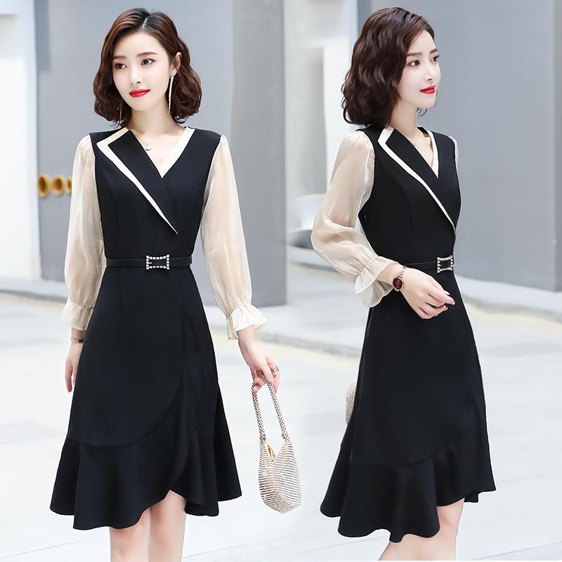 气质裙子高端法式长裙