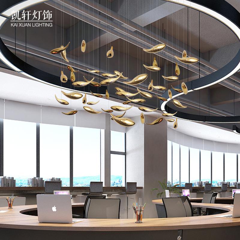 空中吊飾樹脂魚吊件裝飾品酒店大堂會所創意家居燒魚店掛件天花板