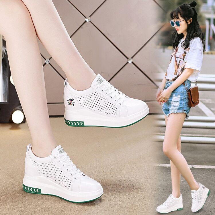【诗怡儿】韩版小白鞋百搭休闲内增高运动鞋