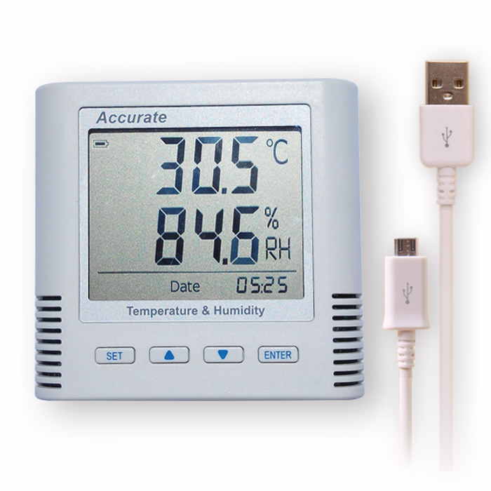自动温湿度记录仪 药店GSP认证仓库实验室 妙昕工业温湿度计 USB